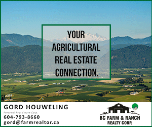 Gord Houweling - Your agricultural real estate connection. BC Farm and Ranch Realty Corp.