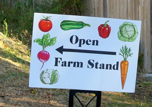 Ladysmith, Nanaimo & Gabriola Farms A-Z Directory. Gabriola Island Farm stand sign