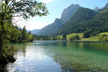The beautiful mountains near the Hintersee in Bavaria, Germany. Protecting Mother Nature at the Ballot Box