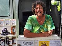 Rebecca Jehn at farmers' market