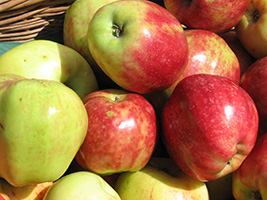 apples can be produced by local agriculture in Surrey