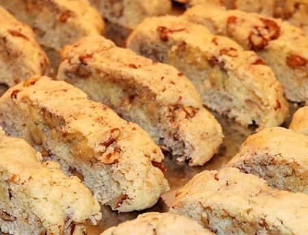 fresh baked pecan biscotti