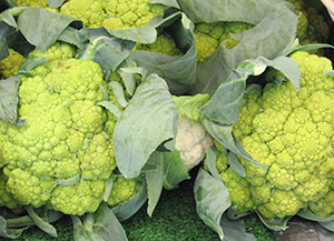 Cauliflower at a farmers market