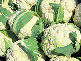 cauliflower can be produced by local agriculture in Surrey
