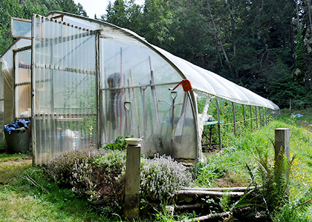 Who Are the 21st Century Farmers? A hoop house at Eagle Paws Organics.
