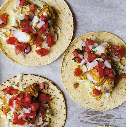fish tacos, courtesy TouchWood Editions