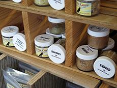 Jars of sea salt at Clever Crow Hand Harvested Sea Salt