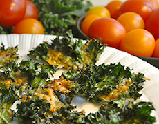 Kale Chips - Recipes and Cooking Tips for Seasonal Winter Vegetables