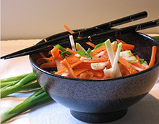 Asian Slaw with Kohlrabi and Carrots - - Recipes and Cooking Tips for Seasonal Winter Vegetables