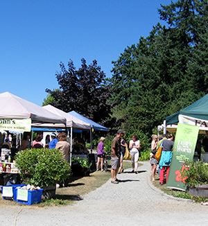 North Saanich Farm Market, one of the Vancouver Island Farmers Markets