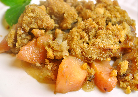 Quince and Apple Crumble
