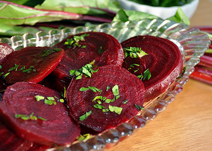 roasted sweet and sour beets