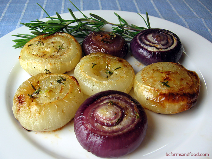herb roasted cipollini onions
