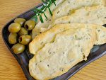 Fresh homemade rosemary sea salt crackers