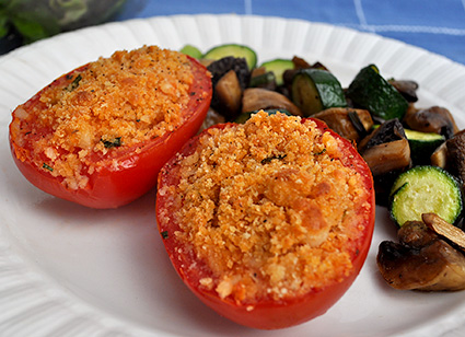 Parmesan-Stuffed Tomatoes