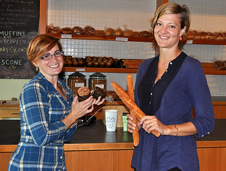 Tara Black and Marion Scott at Origin Bakery