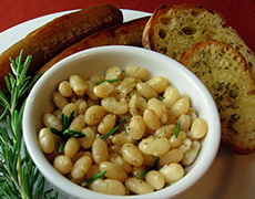 Tuscan White Beans with Rosemary. Basic Recipes You Can Make at Home
