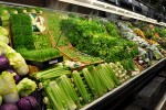 Vegetables in a a supermarket