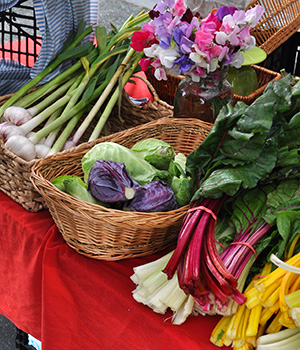 Fresh vegetables and flowers at Vancouver Island farmers markets