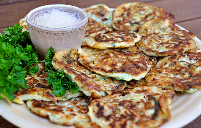 zuchinni pancakes recipe from BC Farms & Food